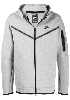 Nike logo-print zip-up hoodie - Grey