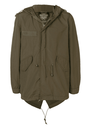 Mr & Mrs Italy pegasus embroidered parka jacket - Green
