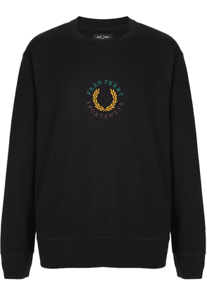 Fred Perry logo embroidered sweatshirt - Black