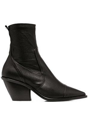 AGL pointed toe ankle boots - Black