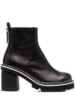 AGL braid-trimmed ankle boots - Black