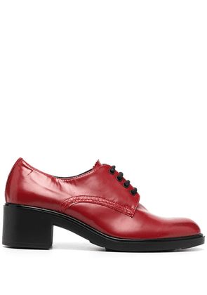 Fratelli Rossetti patent leather lace-up shoe - Red