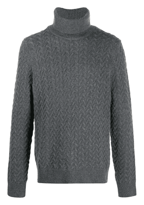 Michael Kors roll neck cable knit jumper - Grey
