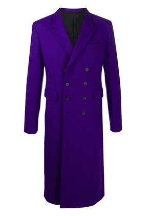 Haider Ackermann double-breasted long-line coat - PURPLE