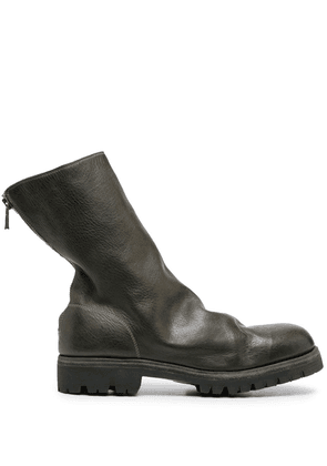 Guidi back zip boots - Green