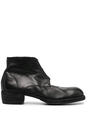 Guidi lace-up ankle boots - Black