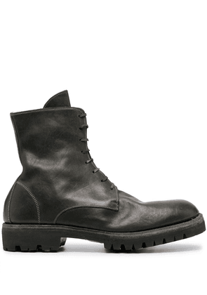 Guidi lace-up combat boots - Green