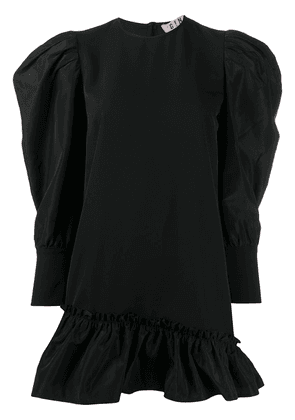 Gina ruffled-hem mini dress - Black