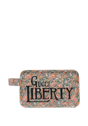 Gucci x Liberty London Betsy print wash bag - Neutrals