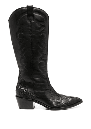 Ash Dream cowboy-style leather boots - Black