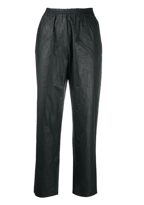 8pm waxed cotton tapered trousers - Black