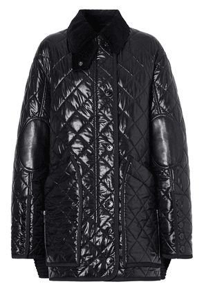 Burberry diamond-quilted Barn jacket - Black