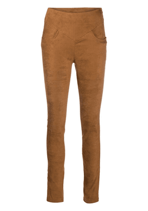 8pm suede-effect skinny trousers - Brown