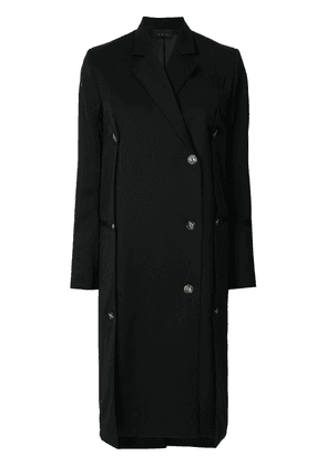 Eudon Choi single breasted tailored coat - Black