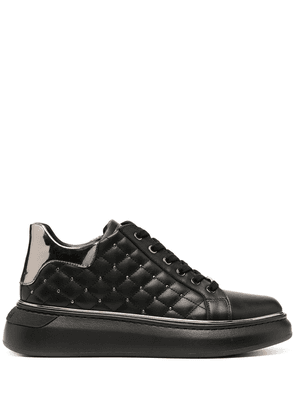 Baldinini quilted stud low-top sneakers - Black