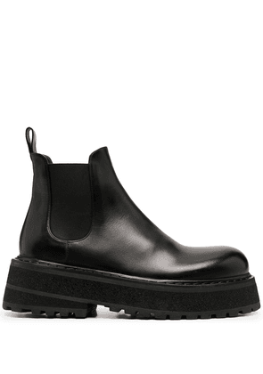 Marsèll chunky-sole leather boots - Black