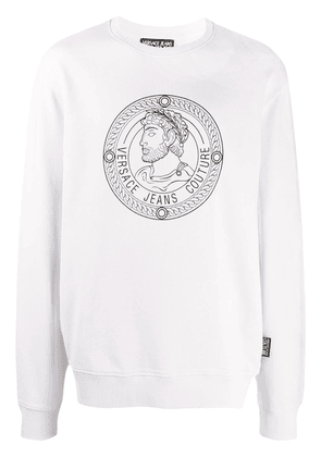 Versace Jeans Couture Roman coin printed sweatshirt - White