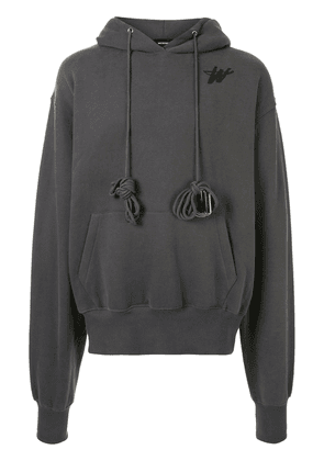 We11done oversized cotton hoodie - Grey