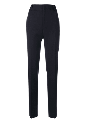Saint Laurent high-rise tailored trousers - Blue