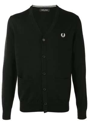 Fred Perry logo-embroidered cardigan - Blue
