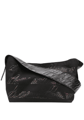 We11done logo-print shoulder bag - Black