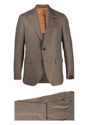 Gabriele Pasini check-pattern single-breasted suit - Neutrals