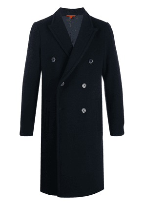 Barena double breasted wool blend coat - Blue