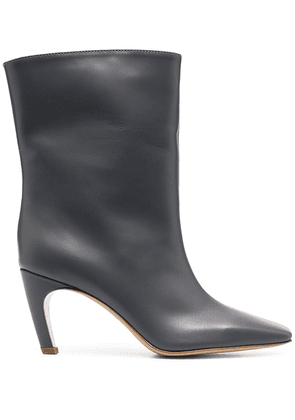 Gia Couture calf-length leather boots - Grey