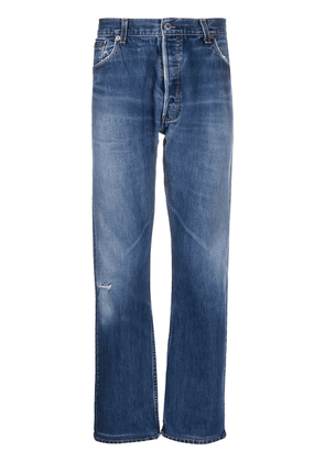 RE/DONE high-waisted straight leg jeans - Blue