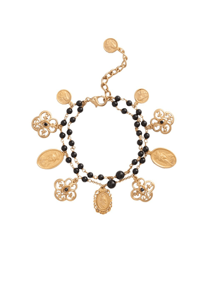 Dolce & Gabbana beaded multi-charm bracelet - GOLD