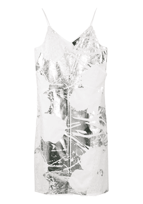 Calvin Klein 205W39nyc foil and lace dress - White