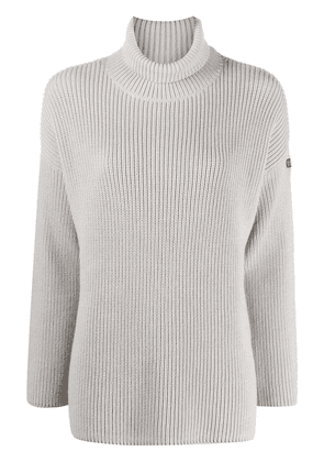 Barbour purl-knit roll-neck jumper - Grey