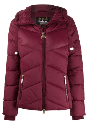 Barbour padded hooded jacket - Red