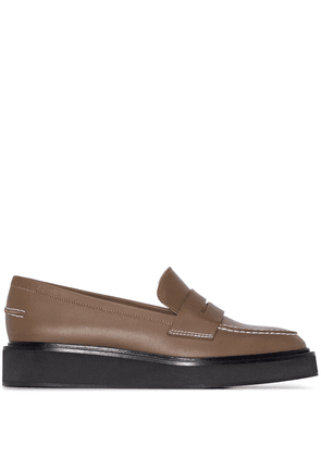 ATP Atelier Monsano flatform leather loafers - Green