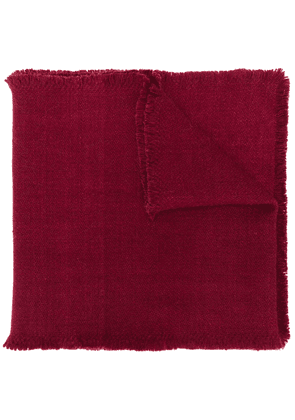 Denis Colomb four-sided fringe scarf - Red