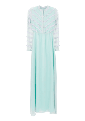 Olympiah Damasco Mix gown - Blue