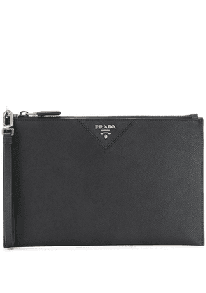 Prada leather clutch bag - Black