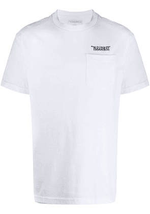 Pleasures embroidered logo T-shirt - White