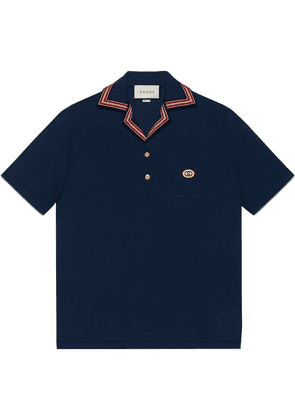 Gucci interlocking G polo shirt - Blue
