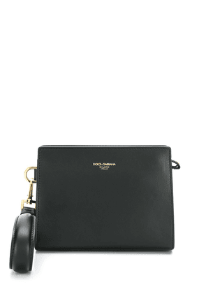 Dolce & Gabbana logo embossed clutch bag - Black
