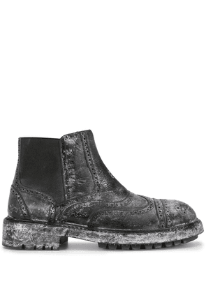 Dolce & Gabbana distressed Chelsea boots - Black