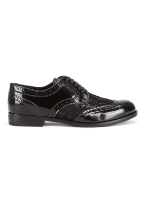 Dolce & Gabbana lace detail leather derby shoes - Black