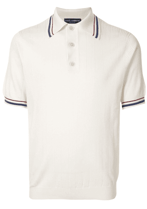Dolce & Gabbana knitted polo shirt - Neutrals