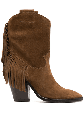 Ash tasselled suede boots - Brown