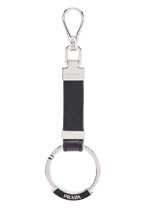 Prada Leather Keychain - Black