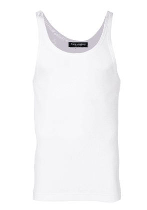 Dolce & Gabbana ribbed tank top - White