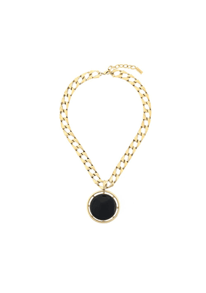 Saint Laurent medallion pendant necklace - Gold