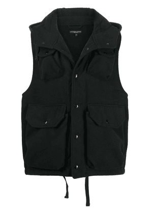 Engineered Garments hooded utility felt gilet - Black