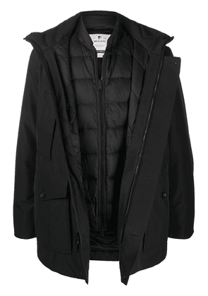 Woolrich double layered hooded coat - Black