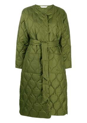 Barbour x Alexa Chung Martha collarless quilted coat - Green